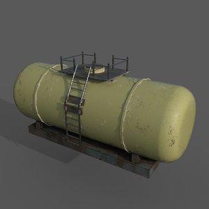 cistern tank wagon 3D model