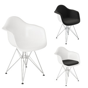 3D eames plastic armchair model