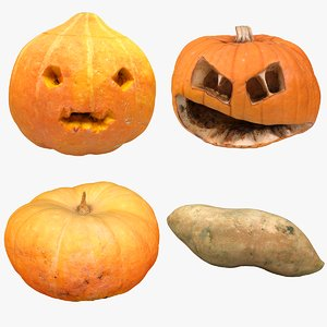 vegetables pumpkin 3D model