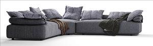 3D flick flack sofa ditre model