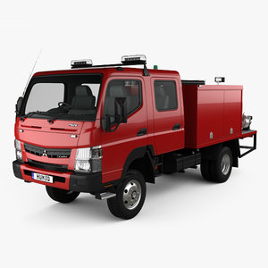 3D mitsubishi fuso canter model
