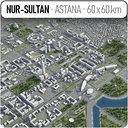 Nur-Sultan - Astana - city and surrounding area