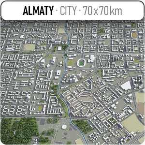 3D model almaty surrounding area -