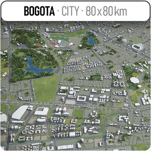 bogota surrounding area - 3D model