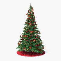 3D holiday christmas tree model
