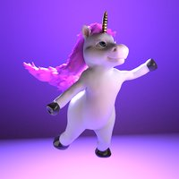 Unicorn Cartoon Rigged