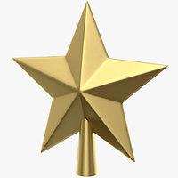 star topper tree 3D model