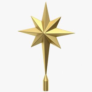 3D star topper tree