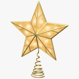 3D star topper tree model