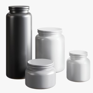 realistic prep canisters 3D model