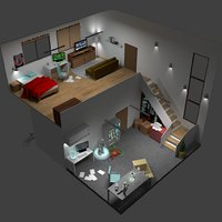 2 floors Isometric Room