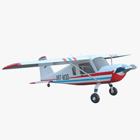 cartoon light utility aircraft airplane 3D