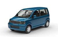 low-poly mitsubishi ek wagon 3D model