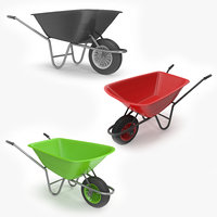 3D model realistic wheel barrow