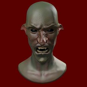 3D goblin evil