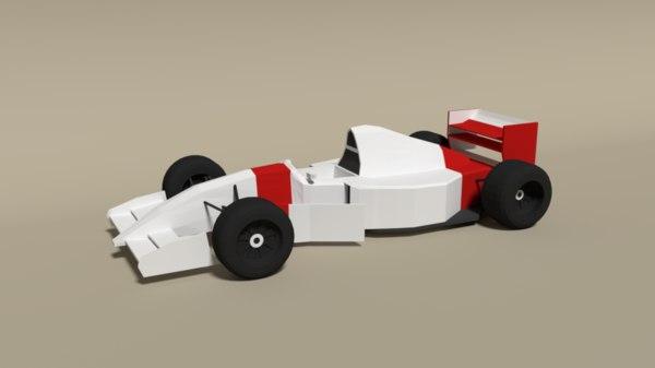 mclaren mp4-8 formula car 3D
