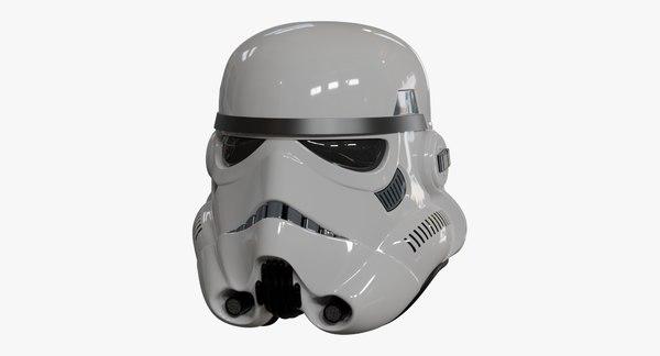 3D model stormtrooper helmet