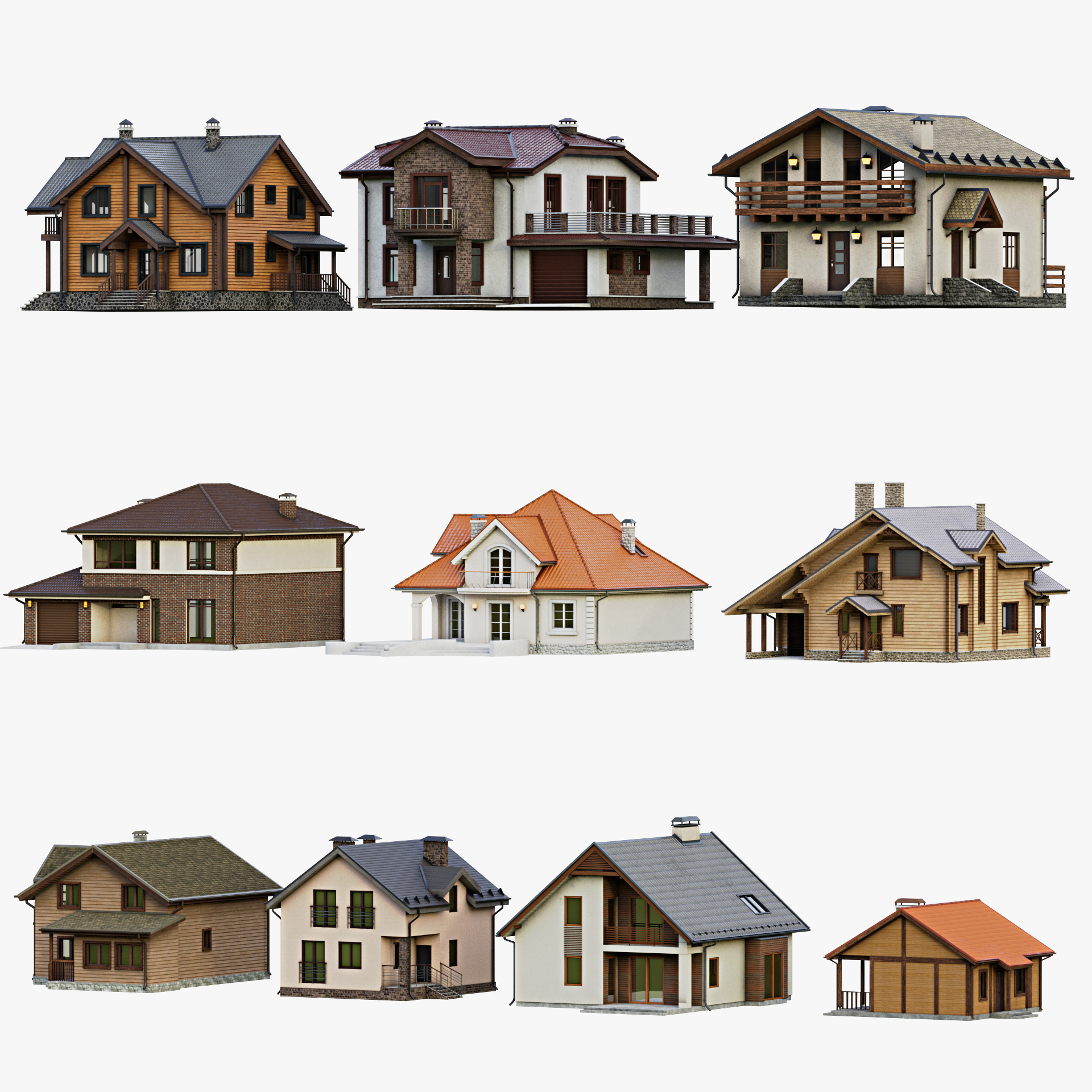 gameready cottage 1 3D model