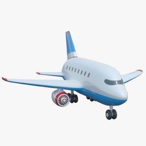 cartoon toy airplane jet 3D