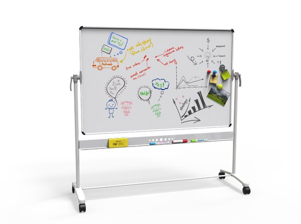 3D white board model