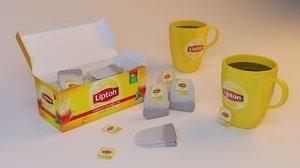 3D lipton tea model