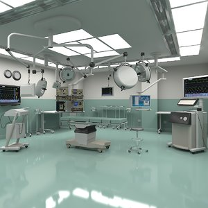 hospital operating room medical equipment 3d model