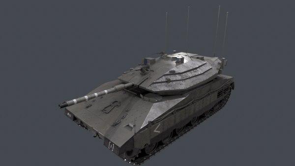 israeli tank merkava mk 3D model