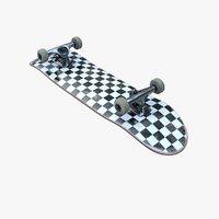 realistic skateboard truck 3D model