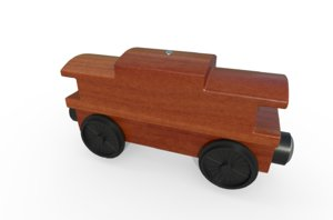 3D toy train caboose model