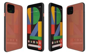 3D google pixel 4 orange