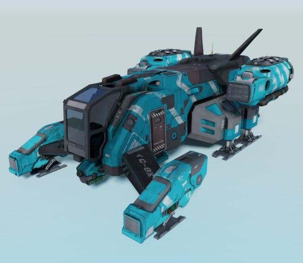 ship sci fi model