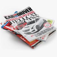 magazines set 9 3D model