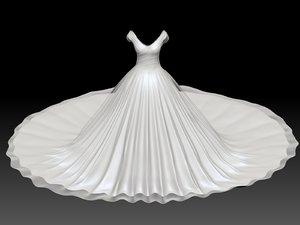 weding dress 3D model