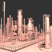 3D port arthur refinery model