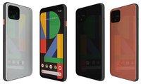 3D google pixel 4 colors