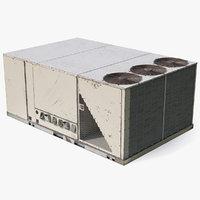 3D 3 vents air conditioning model