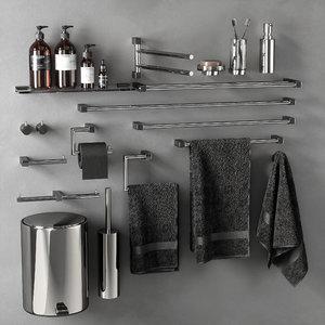 3D model bathroom accessories 02