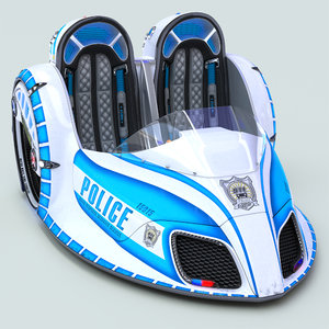 electric mobile police car model