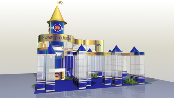 3D exhibition stand sweet model