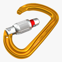 petzl smd locking carabiner 3D model