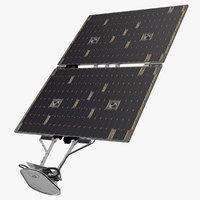 solar panels spacecraft spaceship 3D model