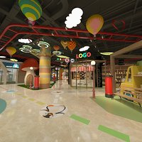 s shopping mall 3D model