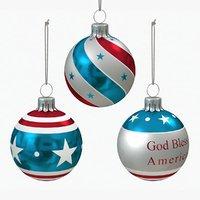 american christmas decoration balls 3D
