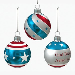 american christmas decoration balls 3D