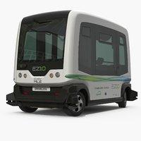 Driveless Bus City EZ10 Rigged
