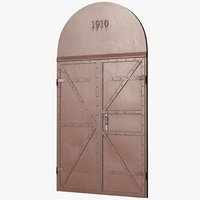 3D model pbr door metallic