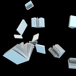 3D float books