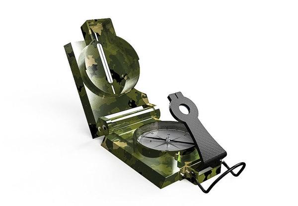 3D lensatic compass