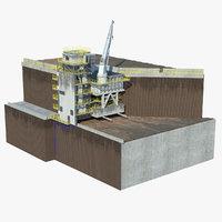 stationary crusher station model