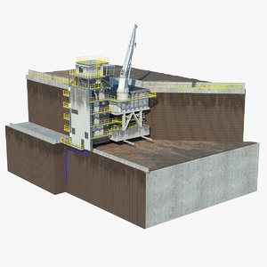 stationary crusher station model